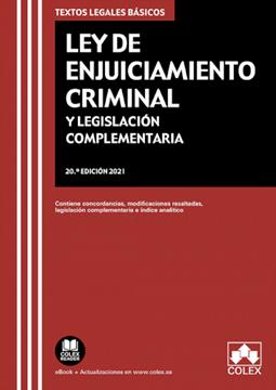 Imagen de Ley de Enjuiciamiento criminal y legislación complementaria, 20ª ed, 2021