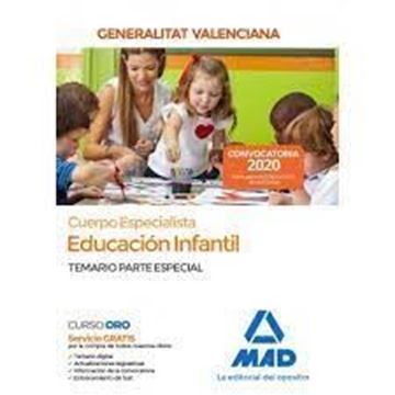 """Imagen de Cuerpo Especialista en Educación Infantil de la Administración de la Generalitat Valenciana, 2020 """"Temario específico"""""""