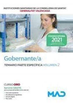 """Imagen de Temario Parte Específica Vol. 2 Gobernante/A , 2021 """"Instituciones Sanitarias de la Consellería de Sanitat Generalitat Valenciana"""""""
