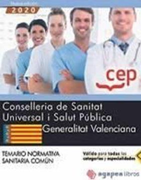 "Imagen de Temario Normativa Sanitaria Común, 2020 ""Consellería de Sanitat Universal i Salut Pública Generalitat Valenciana"""
