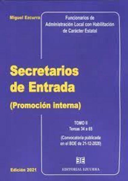 Imagen de Secretarios de Entrata (Promoción Interna) 2 Tomos, 2021