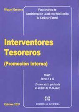 Imagen de Interventores Tesoreros (Promoción Interna) 2 Tomos 2021