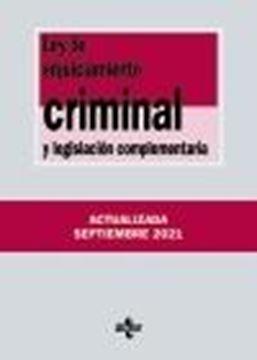 Ley de Enjuiciamiento Criminal y legislación complementaria, 38ª ed, 2021