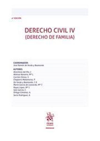 "Imagen de Derecho civil IV, 4ª ed, 2021 ""Derecho de Familia"""
