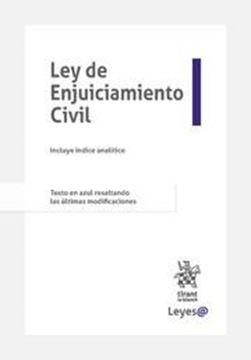 """Imagen de Ley de Enjuiciamiento Civil 2021 (Anillas) """"Incluye índice analítico. Texto en azul resaltando las últimas modificaciones"""""""