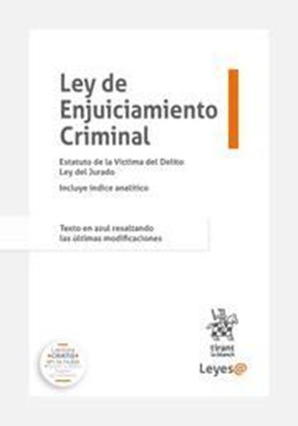 """Imagen de Ley de Enjuiciamiento Criminal 2021 (Anillas) """"Incluye índice analítico. Texto en azul resaltando las últimas modificaciones"""""""