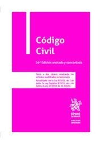 Imagen de Código Civil, 26ª ed, 2021